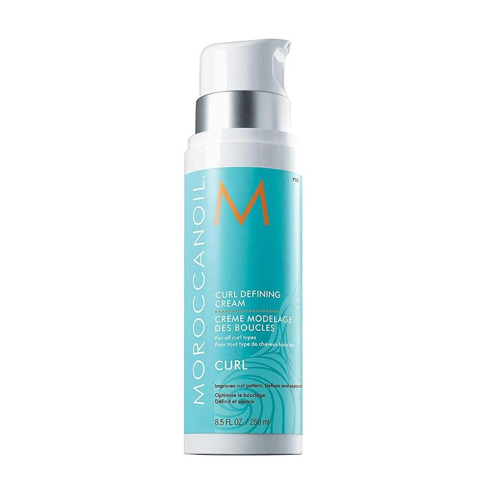 """<p>In addition to the moisturizing argan oil found in all Moroccanoil products, this 2020 <a href=""""https://www.allure.com/story/readers-choice-winners?mbid=synd_yahoo_rss"""" rel=""""nofollow noopener"""" target=""""_blank"""" data-ylk=""""slk:Readers' Choice Award"""" class=""""link rapid-noclick-resp"""">Readers' Choice Award</a> winner also enhances curls when it comes in contact with heat. Apply <a href=""""https://www.allure.com/review/moroccanoil-curl-defining-cream?mbid=synd_yahoo_rss"""" rel=""""nofollow noopener"""" target=""""_blank"""" data-ylk=""""slk:Curl Defining Cream"""" class=""""link rapid-noclick-resp"""">Curl Defining Cream</a> to damp curls and then <a href=""""https://www.allure.com/gallery/best-diffuser-curly-hair?mbid=synd_yahoo_rss"""" rel=""""nofollow noopener"""" target=""""_blank"""" data-ylk=""""slk:zap with a diffuser"""" class=""""link rapid-noclick-resp"""">zap with a diffuser</a> and dryer. The heat-activated formula has a curl memory feature that helps reduce frizz and define coils.</p> <p><strong>$34</strong> (<a href=""""https://www.amazon.com/Moroccanoil-Curl-Defining-Cream-8-5/dp/B003RW2K0G"""" rel=""""nofollow noopener"""" target=""""_blank"""" data-ylk=""""slk:Shop Now"""" class=""""link rapid-noclick-resp"""">Shop Now</a>)</p>"""
