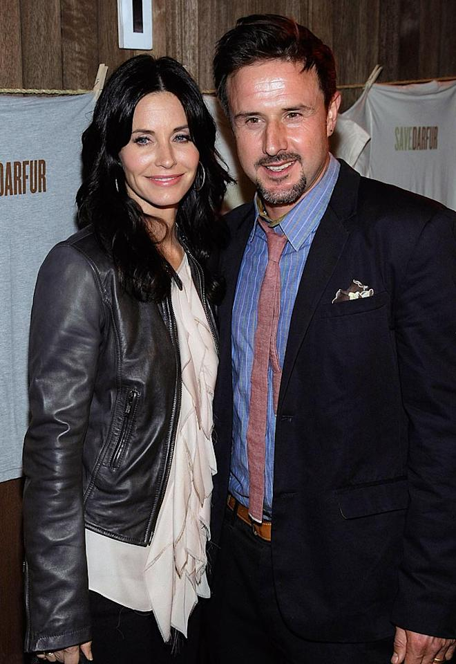 """David Arquette and Courteney Cox were out on Thursday night to promote the charity Save Darfur. Multi-talented David designed a special-edition T-shirt to be sold at his Venice, California, store, Propr, with benefits going to the war-torn African country. Noel Vasquez/<a href=""""http://www.gettyimages.com/"""" target=""""new"""">GettyImages.com</a> - December 17, 2009"""