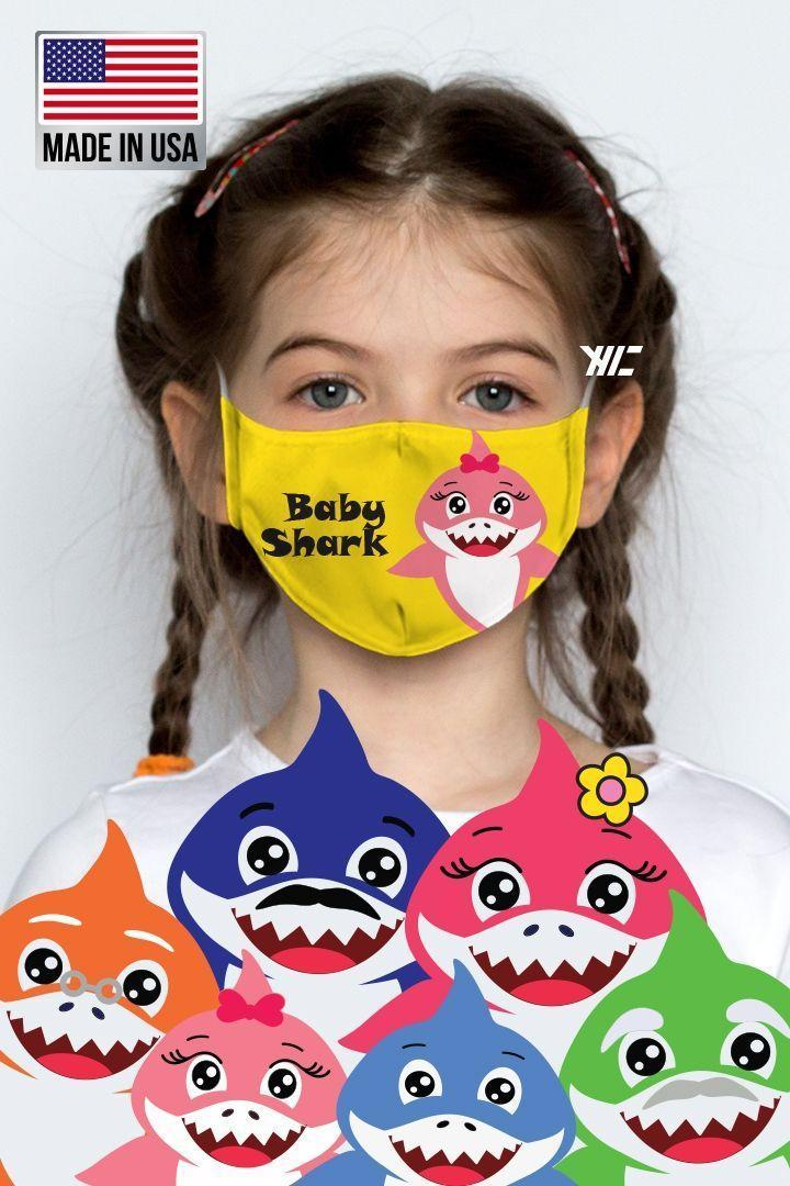 "<p><strong>Ivy and Pearl</strong></p><p>ivyandpearlboutique.com</p><p><strong>$11.00</strong></p><p><a href=""https://www.ivyandpearlboutique.com/shop/accessories/face-masks/kids-face-mask-baby-shark/"" rel=""nofollow noopener"" target=""_blank"" data-ylk=""slk:Shop Now"" class=""link rapid-noclick-resp"">Shop Now</a></p><p>The whole family c<a href=""https://www.goodhousekeeping.com/holidays/halloween-ideas/g28367776/baby-shark-halloween-costume/"" rel=""nofollow noopener"" target=""_blank"" data-ylk=""slk:an dress up as iconic Baby Shark characters"" class=""link rapid-noclick-resp"">an dress up as iconic <em>Baby Shark</em> characters</a>! There are options for adults here, and your little one can choose which shark they'd like to rep on their mask. </p>"