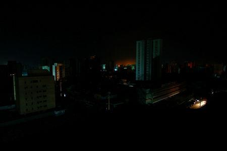 A view of the city during a blackout in Maracaibo Venezuela
