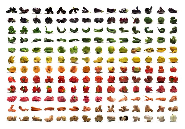 German artist Uli Westphal has been collecting and photographing strange fruits and vegetables for the past 5 years. The Mutato-Project showcases a broad spectrum of produce that would rarely make it into standard supermarket shelves.  (Photo: Uli Westphal)
