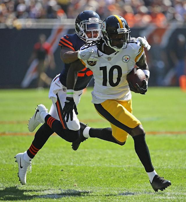 Pittsburgh Steelers receiver Martavis Bryant has been dropped from the main roster (AFP Photo/JONATHAN DANIEL)