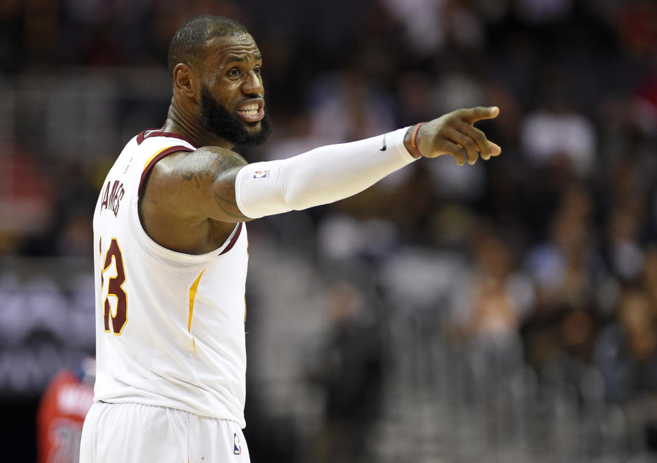 Cavaliers superstar LeBron James is in line to be one of the captains picking the All-Star teams. (AP)