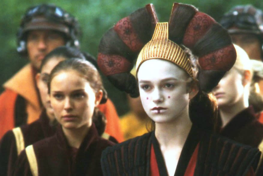 <p>Admit it: you weren't fooled for a second by Amidala's plan to trick everyone as to her real whereabouts with her decoy, were you? The reveal of Padme as a hand maiden, revealing her double as Queen – played by Keira Knightley – should be a notable plot point, but it just sort of happens with absolutely no consequence whatsoever.</p>