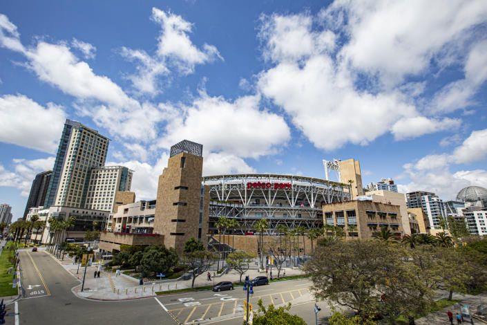 General view outside Petco Park in San Diego