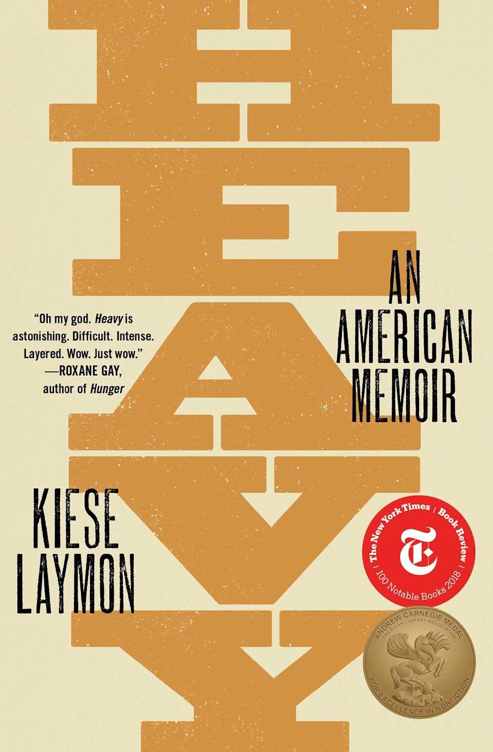 """<p>Kiese Laymon's astounding memoir <a href=""""https://www.popsugar.com/buy?url=https%3A%2F%2Fwww.amazon.com%2FHeavy-American-Memoir-Kiese-Laymon%2Fdp%2F1501125664%2Fref%3Dtmm_pap_swatch_0%3F_encoding%3DUTF8%26qid%3D%26sr%3D&p_name=%3Cstrong%3EHeavy%3C%2Fstrong%3E&retailer=amazon.com&evar1=news%3Aus&evar9=47518818&evar98=https%3A%2F%2Fwww.popsugar.com%2Fnews%2Fphoto-gallery%2F47518818%2Fimage%2F47518825%2FHeavy-American-Memoir-by-Kiese-Laymon&list1=books%2Crace%2Cracism&prop13=api&pdata=1"""" class=""""link rapid-noclick-resp"""" rel=""""nofollow noopener"""" target=""""_blank"""" data-ylk=""""slk:Heavy""""><strong>Heavy</strong></a> is a coming-of-age tale about what it means to grow up as a Black American man in a Black body. As he traces his relationship with his brilliant, academic mother and his own fraught relationship to his body and weight as a young man, he brings vulnerability and boldness to bear in equal measure.</p>"""