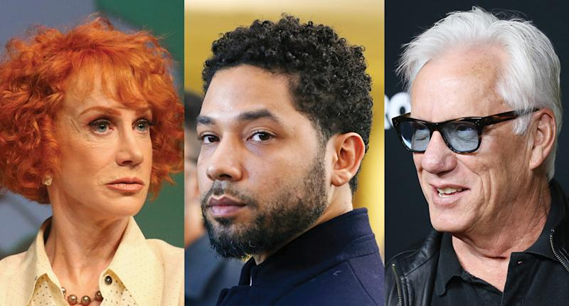 Kathy Griffin Jussie Smollett and James Woods. More