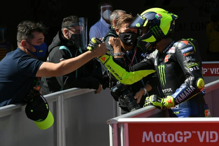 Rossi in Catalonia MotoGP front row after signing Yamaha deal
