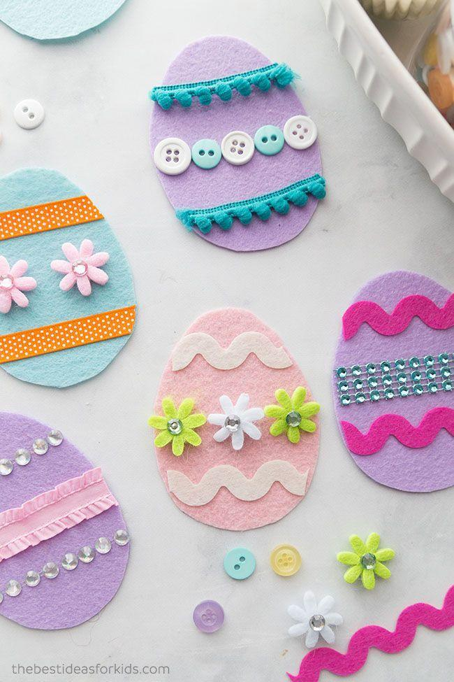 """<p>The more creativity, the merrier when it comes to DIY felt Easter eggs. Bonus: there's way less mess involved than egg dyeing. </p><p><strong>Get the tutorial at <a href=""""https://www.thebestideasforkids.com/invitation-to-create-felt-easter-eggs/?utm_medium=social&utm_source=pinterest&utm_campaign=tailwind_tribes&utm_content=tribes&utm_term=300501384_8505026_180592"""" rel=""""nofollow noopener"""" target=""""_blank"""" data-ylk=""""slk:The Best Ideas for Kids"""" class=""""link rapid-noclick-resp"""">The Best Ideas for Kids</a>. </strong></p><p><strong><a class=""""link rapid-noclick-resp"""" href=""""https://www.amazon.com/flic-flac-inches-Assorted-Fabric-Patchwork/dp/B01GCRXBVE/?tag=syn-yahoo-20&ascsubtag=%5Bartid%7C10050.g.1111%5Bsrc%7Cyahoo-us"""" rel=""""nofollow noopener"""" target=""""_blank"""" data-ylk=""""slk:SHOP FELT"""">SHOP FELT</a><br></strong></p>"""