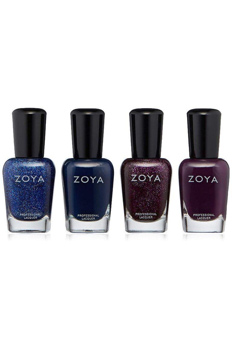 """<p><strong>Zoya</strong></p><p>amazon.com</p><p><strong>$18.00</strong></p><p><a href=""""https://www.amazon.com/ZOYA-Happy-Holo-days-Quad-8-8/dp/B07H2BJ86P?ref_=ast_bbp_dp&tag=syn-yahoo-20&ascsubtag=%5Bartid%7C10049.g.8274845%5Bsrc%7Cyahoo-us"""" rel=""""nofollow noopener"""" target=""""_blank"""" data-ylk=""""slk:Shop Now"""" class=""""link rapid-noclick-resp"""">Shop Now</a></p><p>Her outfit isn't complete without a fresh mani. She'll obsess over this stunning set of deep purples and blues that come in both solid and shimmery shades. </p>"""