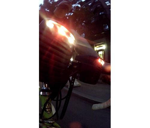 Image of LEDs on a bike