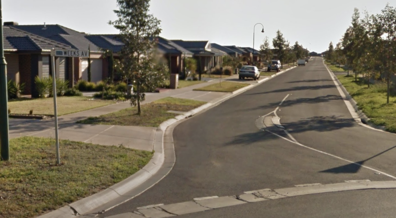 A toddler was grabbed by a man while riding her bike along Weeks Avenue, Harkness. Source: Google Maps