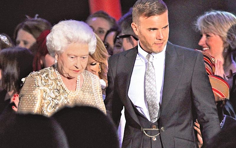 Barlow with the Queen during her Diamond Jubilee concert  - Getty Images