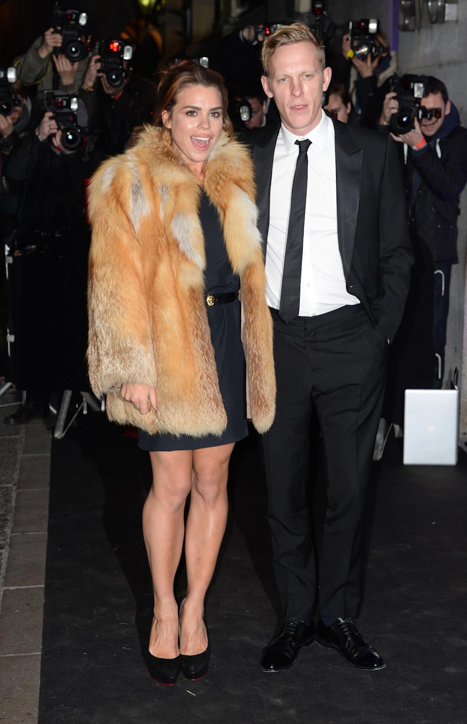 Billie Piper and Laurence Fox arriving at the Evening Standard Theatre Awards 2013, The Savoy Hotel, London.