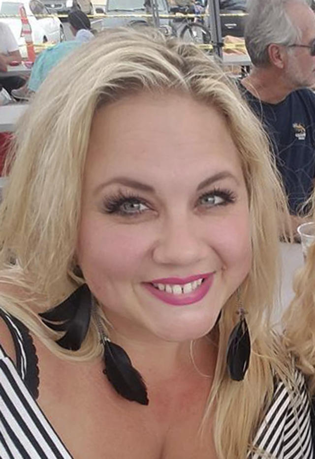 <p>This undated photo shows Heather Warino Alvarado, one of the people killed in Las Vegas after a gunman opened fire on Sunday, Oct. 1, 2017, at a country music festival. (Facebook via AP) </p>