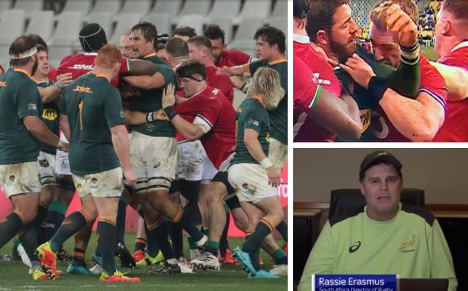 South Africa vs Lions, second Test and Rassie Erasmus.