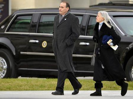 Former presidential advisor David Axelrod arrives for the 57th Inauguration at the US Capitol in Washington