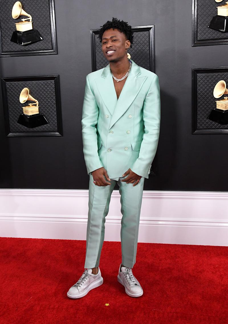 Lucky Daye appears to be vying for the Lil Nas X award for most eye-catching suit, a move we have no choice but to respect.