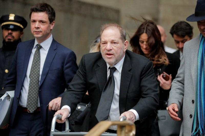 Film producer Harvey Weinstein departs his sexual assault trial at New York Criminal Court in the Manhattan borough of New York City