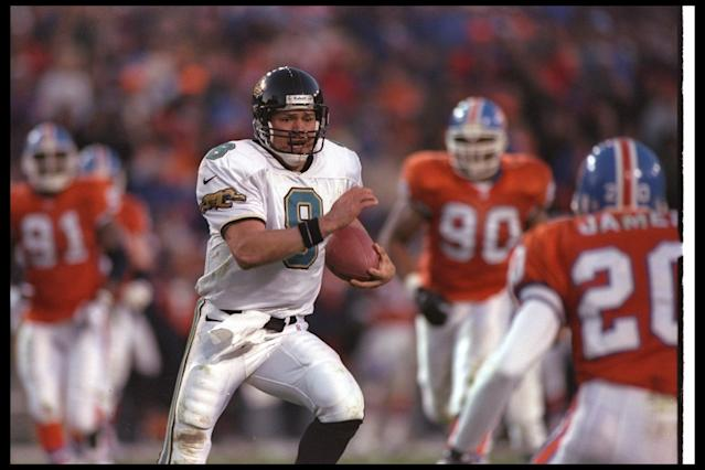 Mark Brunell led the Jaguars to a pair of AFC championship games in the 1990s when the franchise was in its infancy. (Getty)