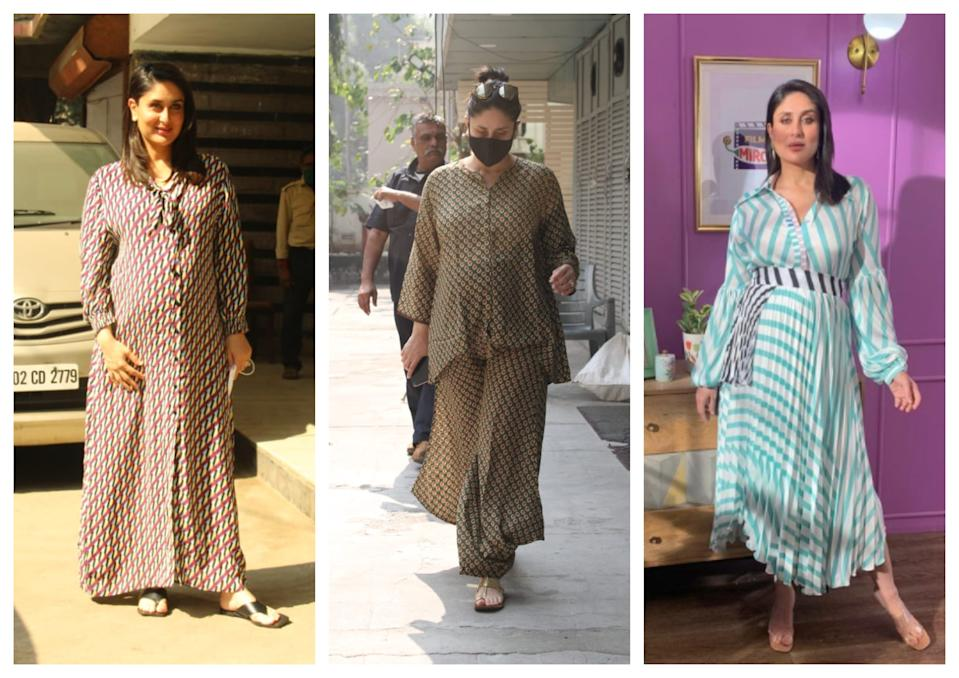 Flowy dress and co-ord sets make up Kareena Kapoor's maternity wardrobe
