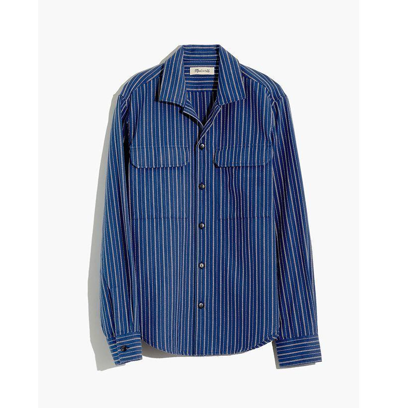 """<p><strong>Madewell</strong></p><p>madewell.com</p><p><strong>$45.49</strong></p><p><a href=""""https://go.redirectingat.com?id=74968X1596630&url=https%3A%2F%2Fwww.madewell.com%2Feasy-camp-shirt-in-textured-stripe-AH983.html&sref=https%3A%2F%2Fwww.esquire.com%2Fstyle%2Fmens-fashion%2Fg33032327%2Fcheap-july-4-sales-mens-fashion%2F"""" rel=""""nofollow noopener"""" target=""""_blank"""" data-ylk=""""slk:Buy"""" class=""""link rapid-noclick-resp"""">Buy</a></p><p>Honestly, you could throw a camp collar on anything and I could be convinced to cop it. </p>"""