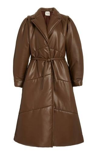<p>We want this <span>Sea Quilted Belted Vegan Leather Coat</span> ($695) ASAP.</p>