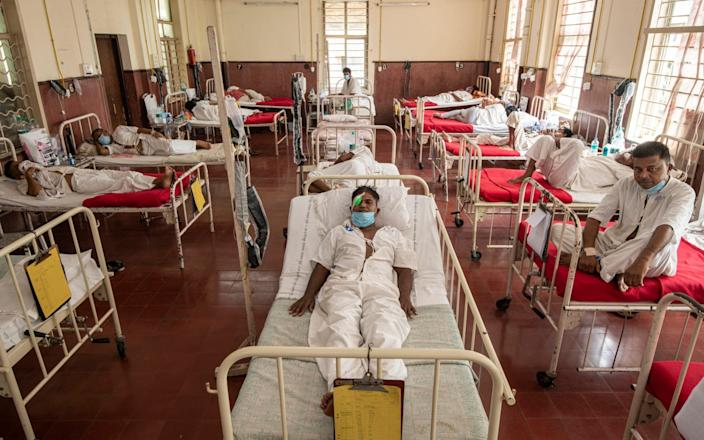 Patients in the Mucormycosis Ward at Mumbai's JJ Hospital - Simon Townsley/Simon Townsley