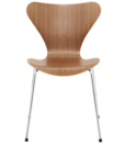 """<p><strong>Arne Jacobsen</strong></p><p>fritzhansen.com</p><p><a href=""""https://fritzhansen.com/en/products/chairs/3107_series7_clear_lacquer"""" rel=""""nofollow noopener"""" target=""""_blank"""" data-ylk=""""slk:Shop Now"""" class=""""link rapid-noclick-resp"""">Shop Now</a></p><p>Designed by Arne Jacobsen for Fritz Hansen in 1955, the Series 7, also called the Model 3107, was an update to Jacobsen's popular Ant Chair. (They are commonly confused.) Inspired by Charles and Ray Eames's experiments with molded plywood, the Ant chair features a simple, bent wood shape set atop skeletal metal legs. </p>"""