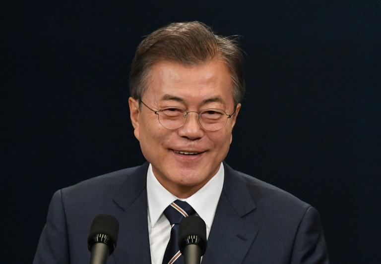 The triumph is widely seen as a boon to President Moon, who took office around a year ago
