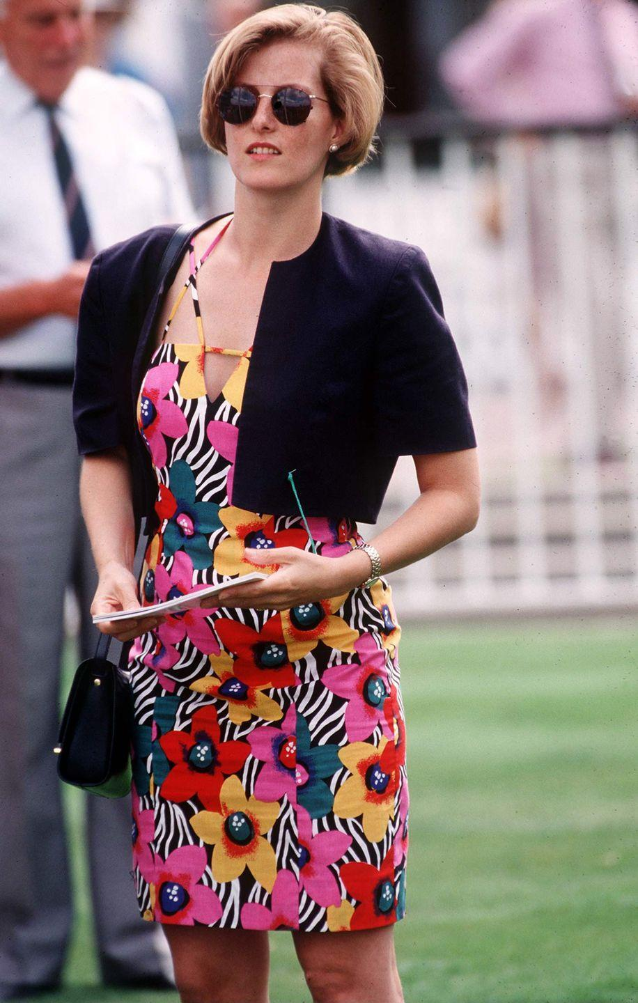 <p>A vibrant look for Sophie from her pre-royal life. </p>