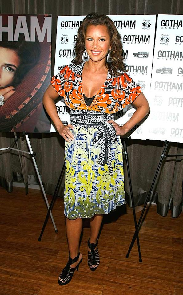 "Matthew Williamson's other biggest fan is Vanessa Williams, who donned one of the designer's dresses -- the $1,225 silk ""Ambroise Georgette"" -- to a Gotham Magazine event at NYC's Pranna. Jemal Countess/<a href=""http://www.wireimage.com"" target=""new"">WireImage.com</a> - April 6, 2009"