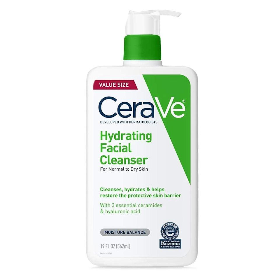 <p>CeraVe is one of the most-talked-about skin-care brands on TikTok. Beauty lovers are obsessed with the <span>Hydrating Facial Cleanser 12 oz for Daily Face Wash, Normal to Dry Skin</span> ($17), particularly for how it helps restore and maintain the skin's barrier without stripping it off much-needed moisture. </p>