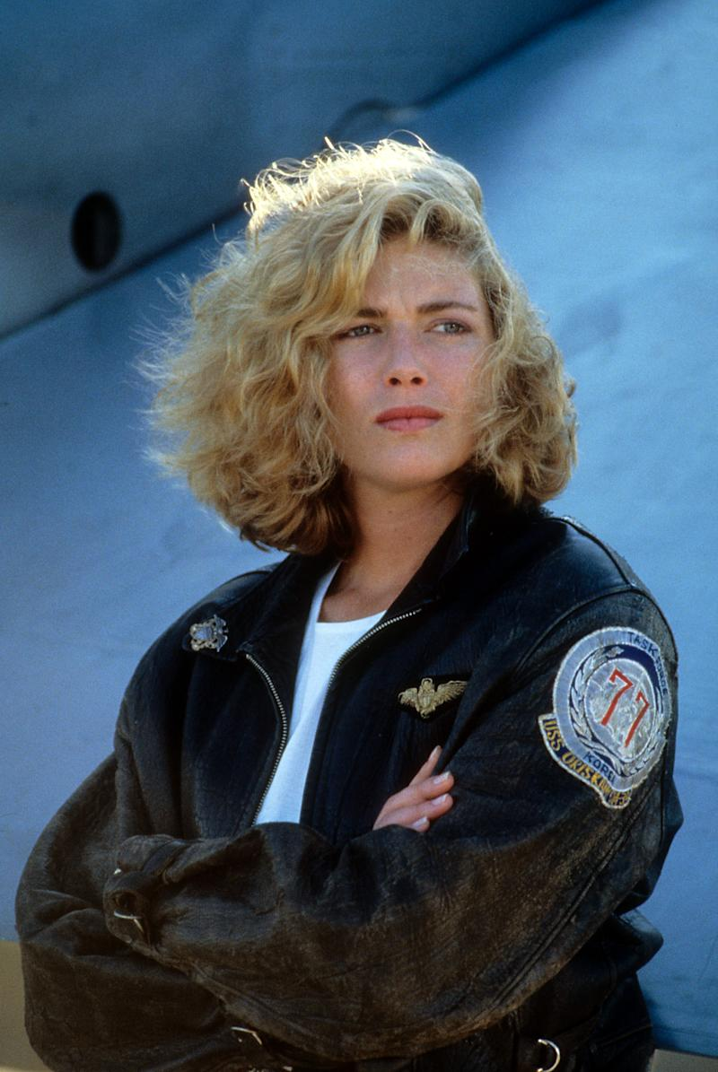 Kelly McGillis folds her arms in a scene from the film 'Top Gun', 1986. (Photo by Paramount/Getty Images)