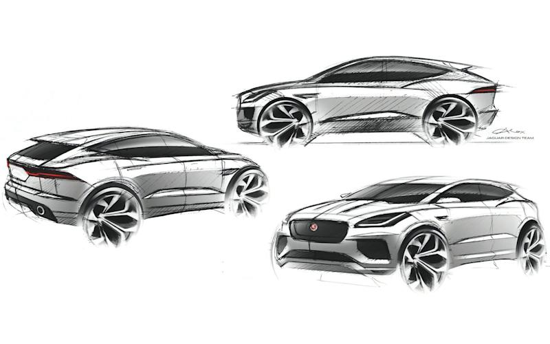 Jaguar E-Pace styling sketches