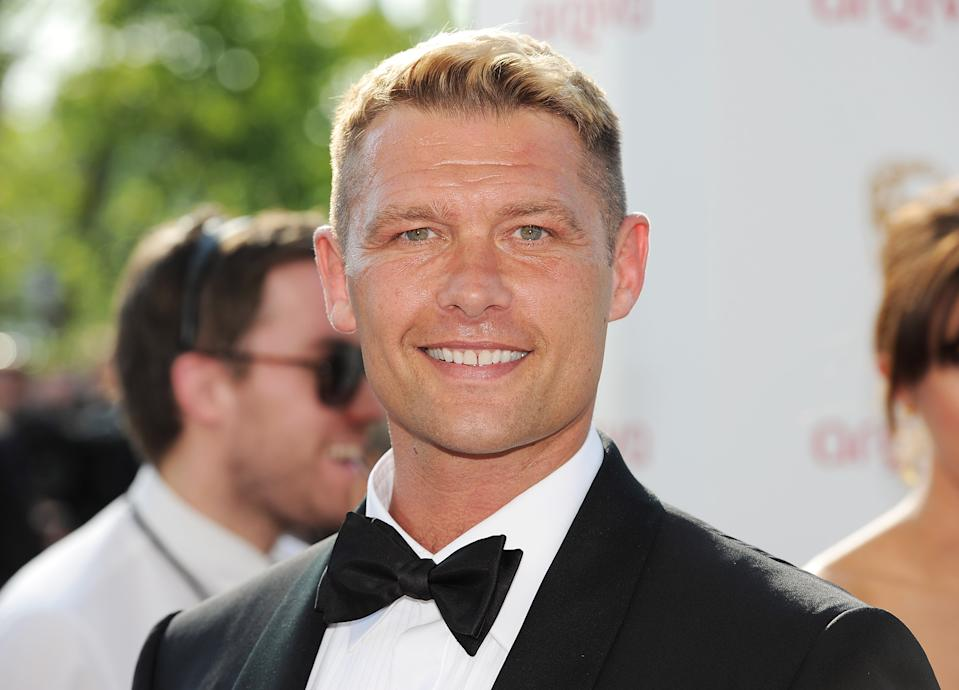 LONDON, ENGLAND - MAY 27:  (EMBARGOED FOR PUBLICATION IN UK TABLOID NEWSPAPERS UNTIL 48 HOURS AFTER CREATE DATE AND TIME. MANDATORY CREDIT PHOTO BY DAVE M. BENETT/GETTY IMAGES REQUIRED)  John Partridge arrives at the Arqiva British Academy Television Awards 2012 at Royal Festival Hall on May 27, 2012 in London, England.  (Photo by Dave M. Benett/Getty Images)