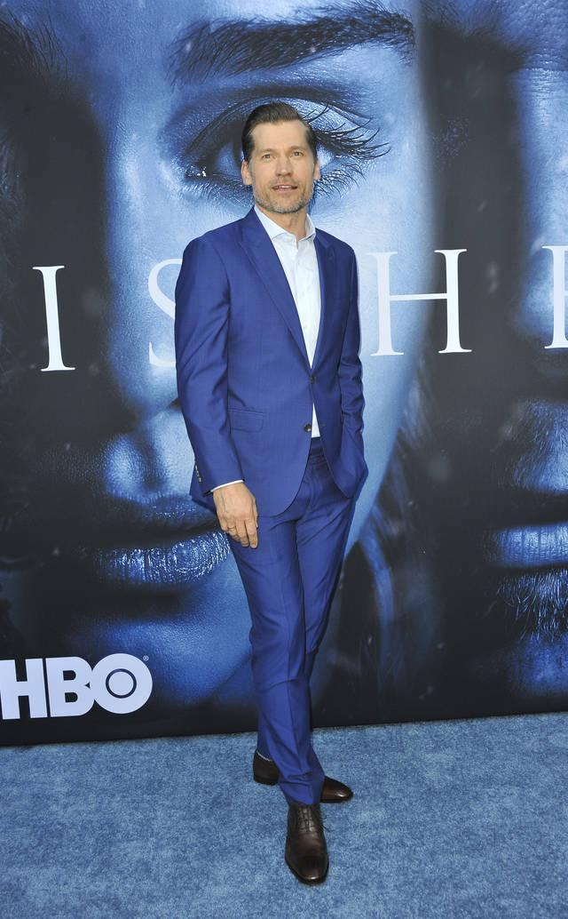 <p>The show's heartthrob appeared in a bright blue suit. (Photo: Wenn) </p>