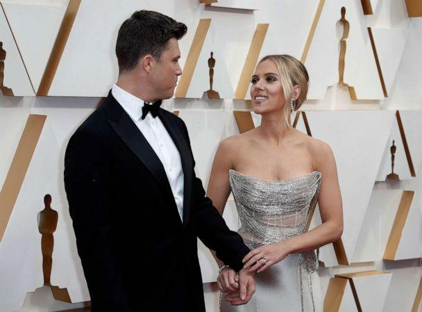PHOTO: Scarlett Johansson and Colin Jost attend the 92nd annual Academy Awards, Feb. 9, 2020, in Hollywood, Calif. (Eric Gaillard/Reuters)