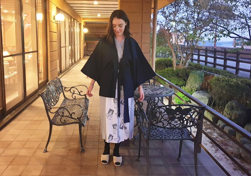 The traditional yakuta is provided by hotels. Sandals should be worn with socks, and yes keep your undies on. Photo: Supplied