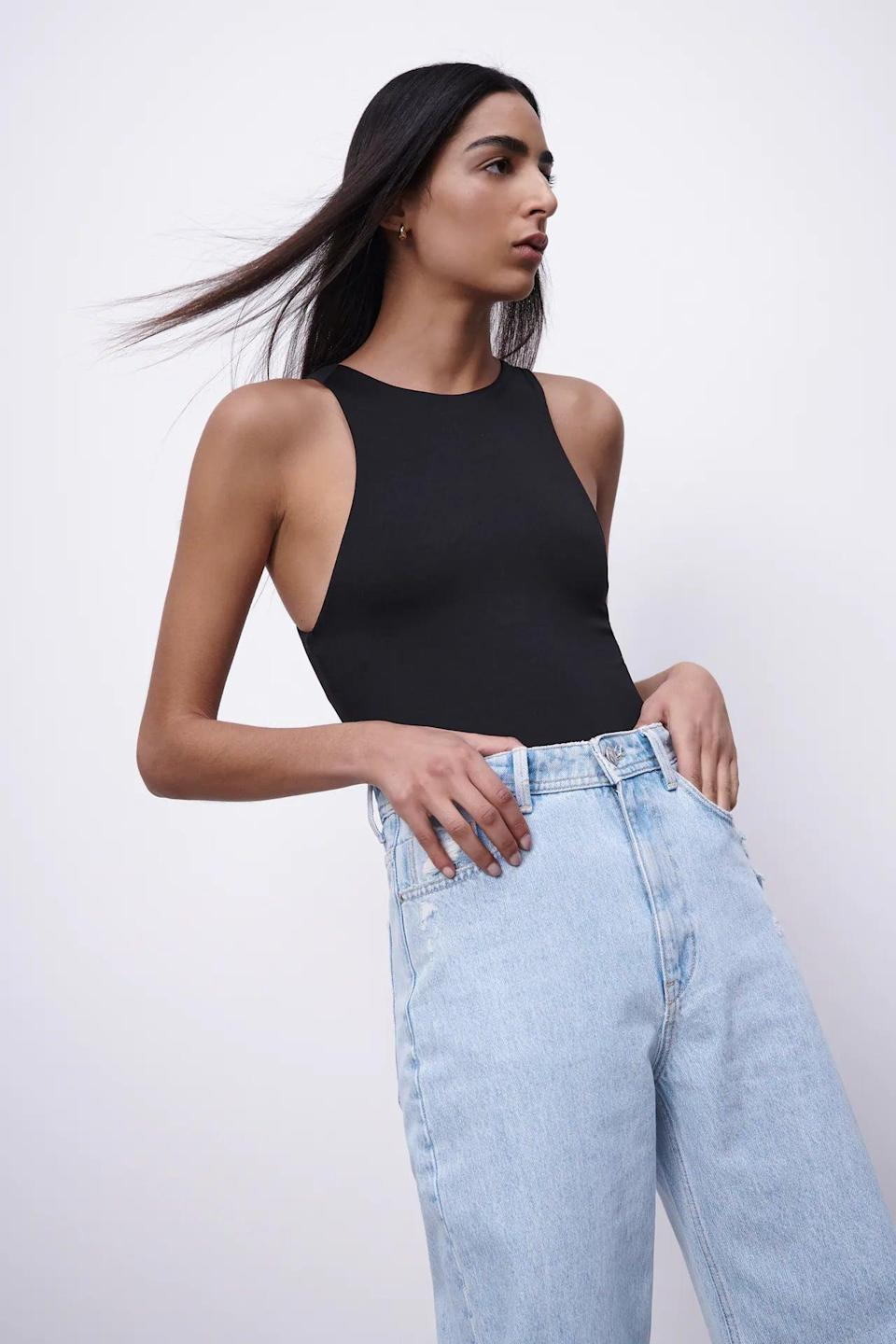 <p>You can't go wrong with this <span>Halterneck Bodysuit</span> ($20). It's easily one of the most versatile pieces to style.</p>