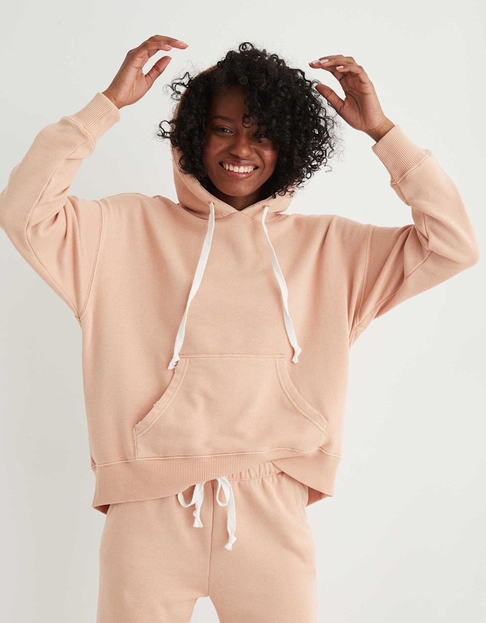 """<p>""""I've been living in my <span>Aerie Weekend Oversized Hoodie</span> ($38, originally $50) and it's as cozy as it looks.""""</p>"""