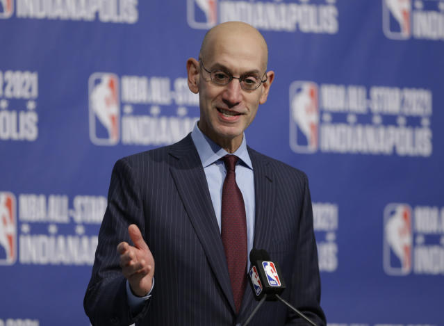 NBA commissioner Adam Silver says he hasn't thought about becoming NFL commissioner, though there are reports he's been approached by NFL owners. (AP)