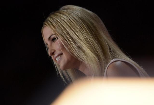 Ivanka Trump, 34, vice president of the Trump Organization, says she tries to keep her distance from her father's campaign (AFP Photo/Brendan Smialowski)