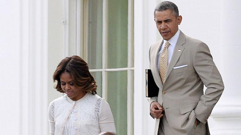 Obamas Get Some Extra Attention at Easter Church Service in D.C.