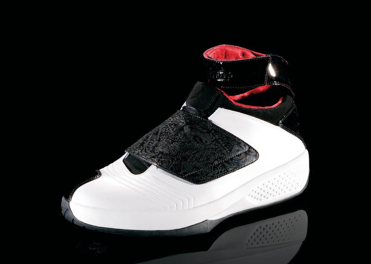 """<p>Air Jordan XX - """"Living Greatness"""" (2005): The 20th anniversary edition, the laser etching on the upper part of the shoe commemorates MJ's life. (Photo Courtesy of Nike)</p>"""