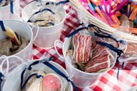 <p>If you want to give your guests something sweet, just whip together some homemade desserts, and put them inside clear baggies. Tie the baggies with ribbon, and add personalized tags if you're feeling really crafty.</p>
