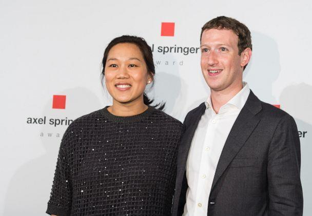 PHOTO: In this Feb. 25, 2016, file photo, Mark Zuckerberg, CEO and founder of the social media platform Facebook, and his wife Pricilla Chan pose for a photo before an event in Berlin. (Florian Gaertner/Photothek via Getty Images, FILE)