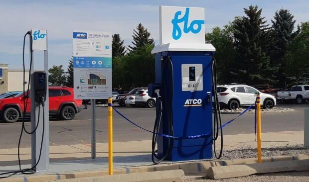 FLO has partnered with Atco to install several charging stations, like this one in Alberta.