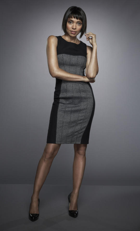 "Tamara Taylor returns as Dr. Camille Saroyan in Season 8 of ""Bones."""
