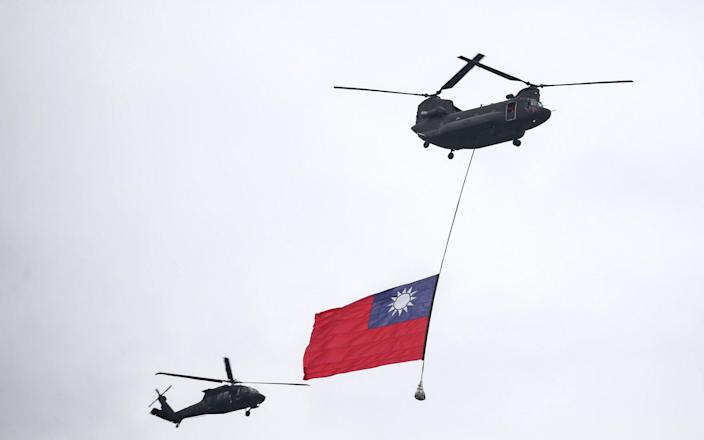 Taiwan showed off its own military prowess during National Day celebrations at the weekend - I-Hwa Cheng/Bloomberg